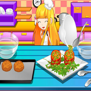 เกมส์ทำเนื้อสอดไส้มะเขือเทศ