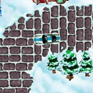 เกมส์ขับรถบนภูเขาหิมะ