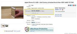 iPhone 5s สีทองบน eBay ทะลุหลักสามแสนแล้ว!!