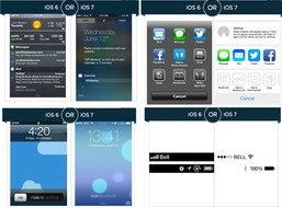 iOS 7 การออกแบบที่ถูกใจกว่า iOS 6