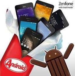 เอซุสปล่อยอัพเดท Android 4.4 KitKat แล้ว