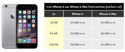 ราคา iPhone 6 และ 6 Plus สรุปราคาเครื่องเปล่า เครื่องหิ้ว ในประเทศไทย อัพเดทล่าสุด