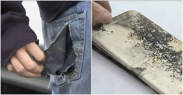 iPhone 6 Plus แบตไหม้กระเป๋ากางเกง