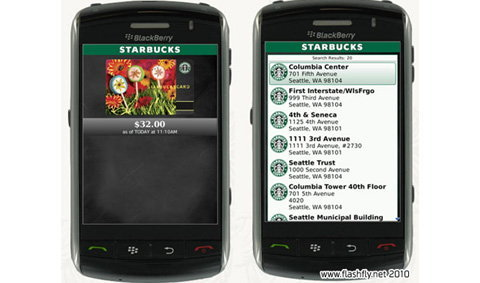 Starbucks Mobile App แอพพลิเคชั่นสำหรับคนรักกาแฟ Starbucks บน BlackBerry
