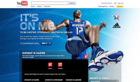Adidas Interactive video