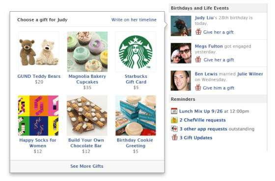 เฟซบุ๊กรุกอีคอมเมิร์ซส่งของขวัญจริงๆ