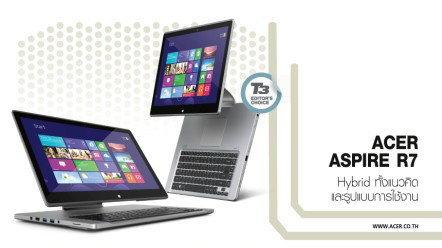 ACER ASPIRE R7 Hybrid ทั้งแนวคิดและรูปแบบการใช้งาน
