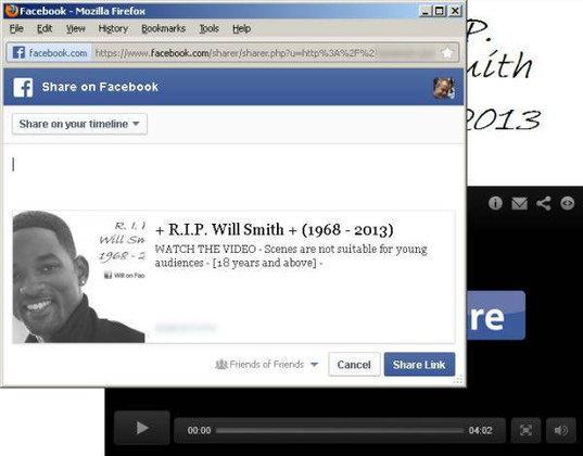 เตือนภัย!! ข่าวข้อความหลอกลวงเรื่องคนดังเสียชีวิต R.I.P ใน Facebook