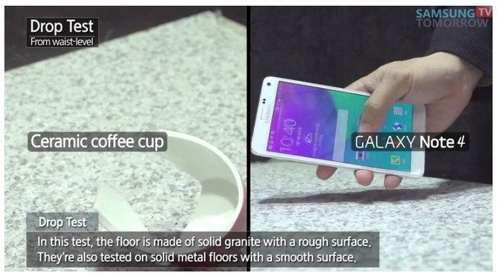 โชว์คลิป Drop Test สมาร์ทโฟน Galaxy Note 4 ว่าแกร่งขนาดไหน