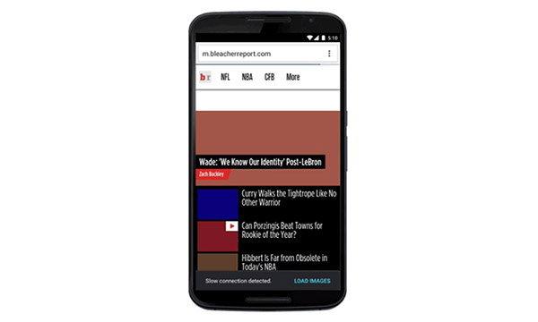Chrome For Android เพิ่มฟีเจอร์ปิดการโหลดรูป เมื่อรู้ว่าอินเทอร์เน็ตช้า