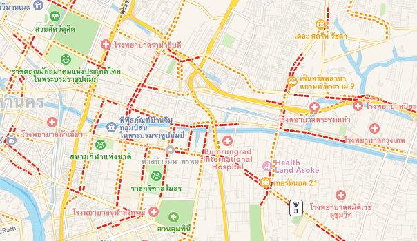 Apple Maps สามารถแสดงการจราจรในประเทศไทยได้แล้ว