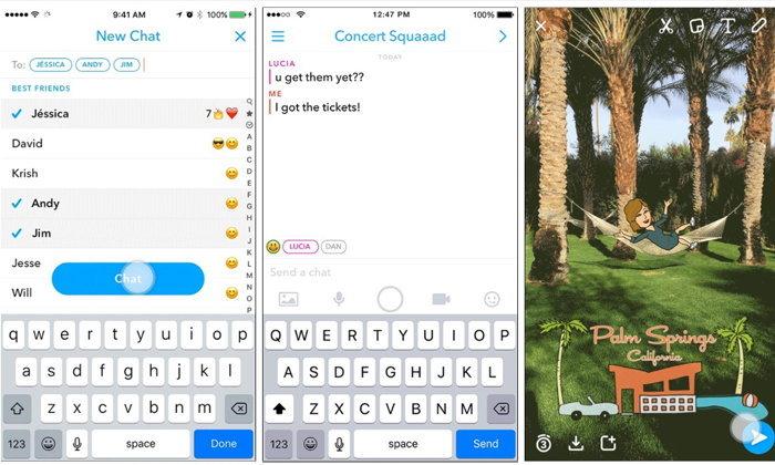 Snapchat เพิ่มฟีเจอร์แชทกลุ่มสูงสุด 16 คน