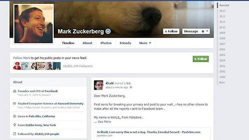 เมื่อเจ้าของ Facebook ถูกบุกรุกซะเอง