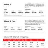 ราคา iPhone6 และ 6Plus เครื่องเปล่าจากทรู