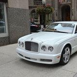 White Bentley Brooklands