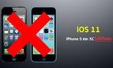 iOS 11 รองรับการอัปเดตบนอุปกรณ์ใดบ้าง ? เพราะเหตุใด iPhone 5 และ iPhone 5C ถึงไม่สามารถอัปเดต iOS 11