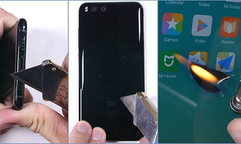 Xiaomi Mi 6 พิสูจน์ความทนทานกับสามด่านสุดโหด กรีดด้วยมีด ลนด้วยไฟ งอด้วยมือ จะรอด?