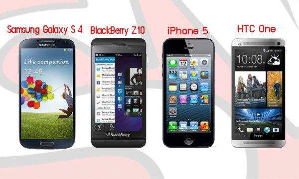 เทียบให้เห็น Samsung Galaxy S4 กับอีก 3 รุ่นท็อป