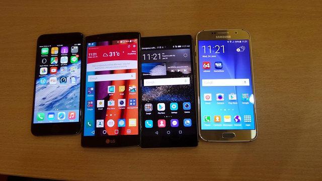 เปรียบเทียบ 4 Smart Phone (iPhone6, LGG4, Huawei P8, Samsung Galaxy S6) กับ 4 โจทย์