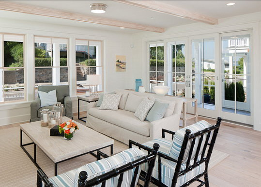 """Living Room. Coastal Living Room Ideas. Beautiful living room with coastal decor. The faux bamboo armchairs are from """"Room & Gardens"""".  #LivingRoom #LivingRoomIdeas #LivingRoomDesign #CoastalLivingRoom #LivingRoomLayout"""