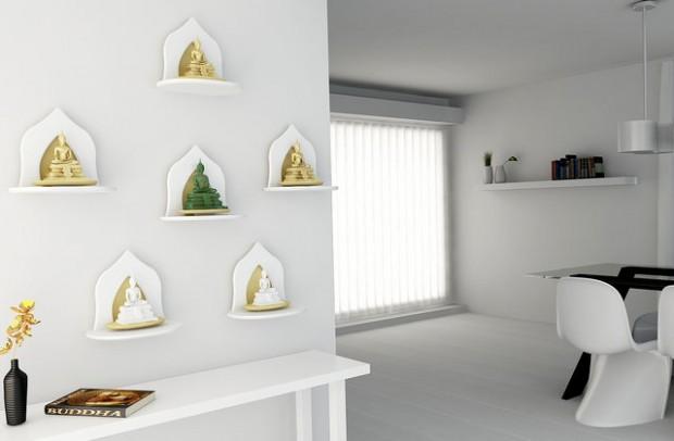 Innolife อินโนไลฟ์ หิ้งพระ หมู่1 เล็กมินิ Mini Buddha Shelf2 white 620x406 inspiration highlight design decorative item
