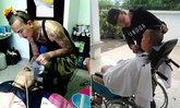 กอล์ฟ แฮร์สไตลิสหนุ่ม ตัดผมฟรี ให้คนป่วย ผู้พิการ คนชรา