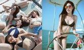 หนุ่มๆ ละลาย 5 สาวทีมบีโชว์เซ็กซี่บนเรือยอชท์