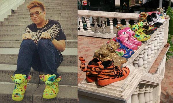 หนุ่มๆ กล้าใส่ไหม รองเท้าผ้าใบน่ารักฟรุ้งฟริ้งแบบนี้
