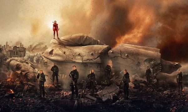 """แคทนิส ผงาดแคปิตอล! ภาพใหม่ """"The Hunger Games: Mockingjay Part 2"""