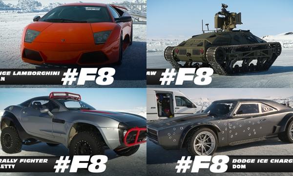 ใหม่จากกองถ่าย รวมบรรดารถสุดเจ๋งที่เข้าฉากใน Fast and Furious 8
