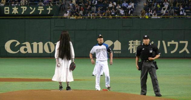 หมดสยอง! ผีซาดาโกะ ลงเล่นเบสบอล+คลิป