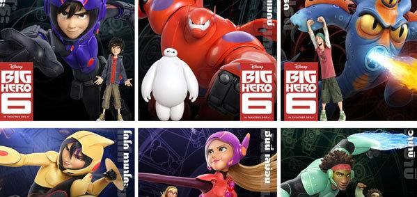 ภาพชุดแรก 6 ฮีโร่ จาก BIG HERO 6  พร้อมตัวอย่างของแอนิเมชั่น