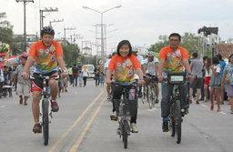 """ททท. กระบี่ เปิดตัวโครงการ """"ใจสีเขียว เที่ยวกระบี่"""" กิจกรรมปั่นจักรยานท่องเที่ยว"""