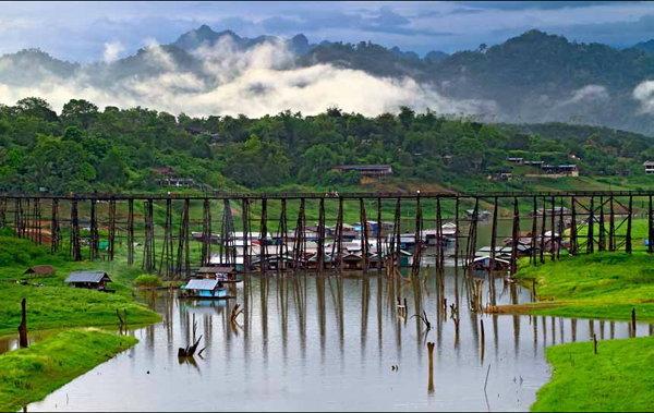 สะพานมอญ เที่ยวกาญจนบุรี
