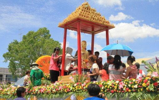 งานประเพณีแห่พระศรีอาริยเมตไตร วันวิสาขบูชา ประจำปี 2557