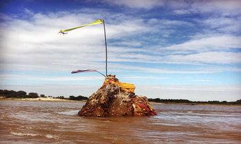 พระธาตุหล้าหนองโผล่ขึ้นกลางแม่น้ำโขงจังหวัดหนองคาย !!!