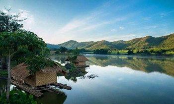 อ่างเก็บน้ำหุบเขาวัง ตอนกลางคืนมีดาว ตอนเช้ามีหมอก ณ สุพรรณบุรี