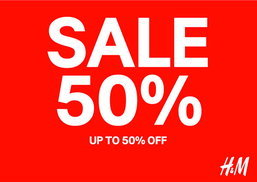H&M MID-SEASON SALE UP TO 50% OFF.