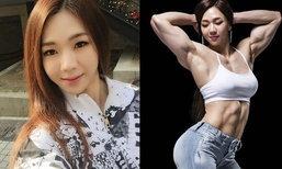 YeonWooJhi สุดยอดสาวเกาหลีหน้าบาร์บี้ แต่หุ่นนักกล้าม