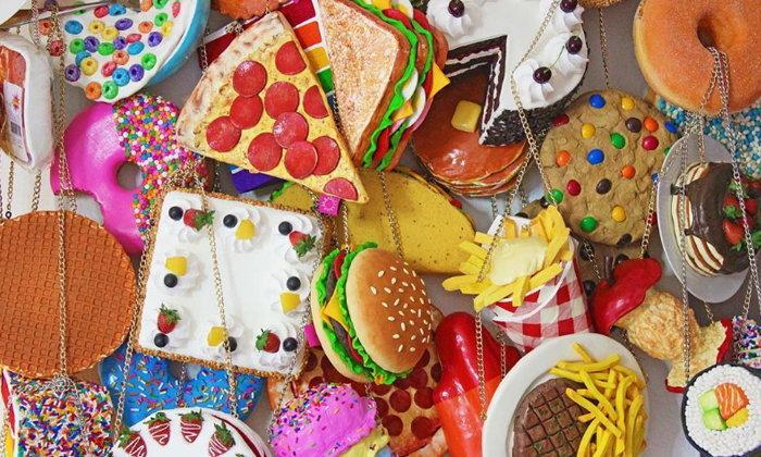 ถูกและเก๋ ไม่ซ้ำใคร กระเป๋าเลียนแบบอาหาร เหมือนจนน่ากิน