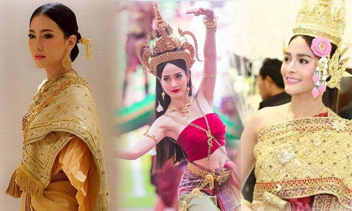 ชุดไทยดารา ใส่แล้วสวยดุจนางในวรรณคดี