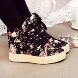 รองเท้าลายดอก
