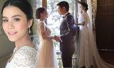 ซูมชุดแต่งงานแบรนด์ไทย เรียบง่าย สไตล์อังกฤษของ มัดหมี่ พิมดาว