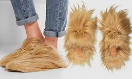 รองเท้าขนแพะ จาก Gucci ขนฟูนุ่ม ราคาเบาๆ เกือบแสนบาท