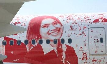ดังไปทั่วโลก สายการบินสวิส ตกแต่งเครื่องบิน ด้วยหน้าสาวไทย