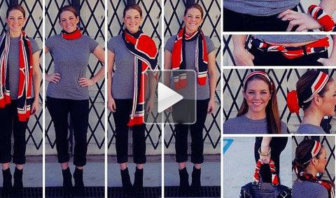 10 วิธีสวยง่ายๆ ด้วยผ้าพันคอผืนเดียว
