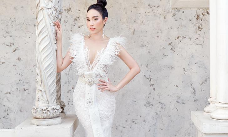"""""""เมย์ พิชญ์นาฏ"""" ซ้อมใส่ชุดแต่งงานแบบไทย ขึ้นปก Bride Magazine ฉบับพิเศษ"""