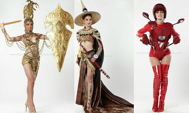 ชุดประจำชาติ มิสอินเตอร์เนชั่นแนลควีน 2014 เก๋ แปลก อลังการ ตามแบบสาวประเภทสอง
