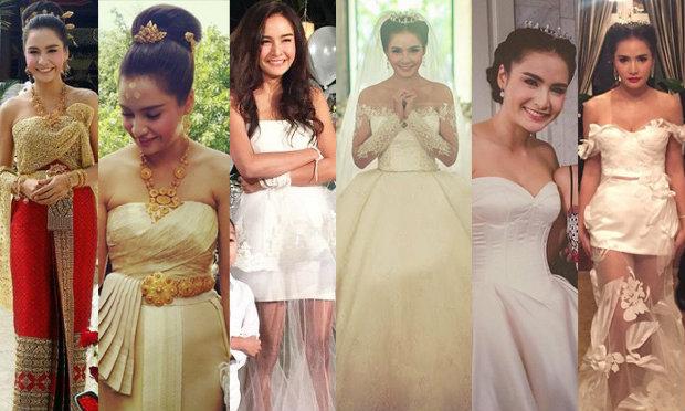 7 ชุดแต่งงานเลอค่า ใน งานแต่งกระแต ศุภษร