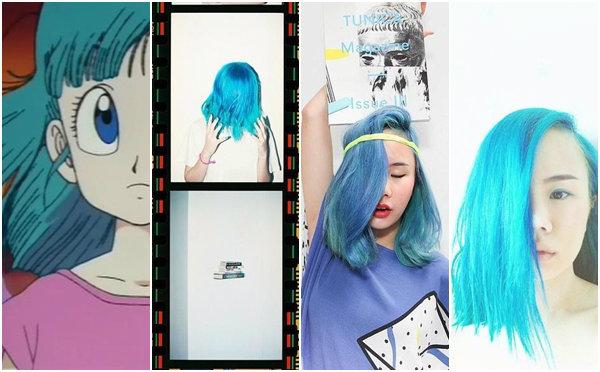 """มาดูแฟชั่นสุดแซ่บและสีผมสีฟ้าของสาวศิลปินสุดติสท์ """"นท พนายางกูร"""""""